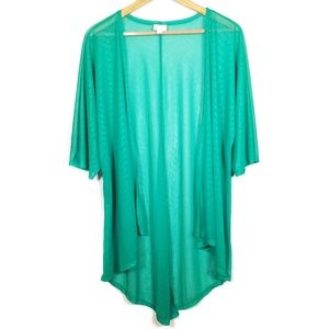 Lularoe Lindsay Kimono Green Cover Up Women's S